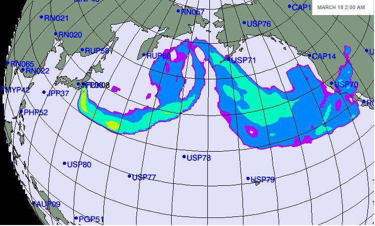 Японских АЭС на 18 марта