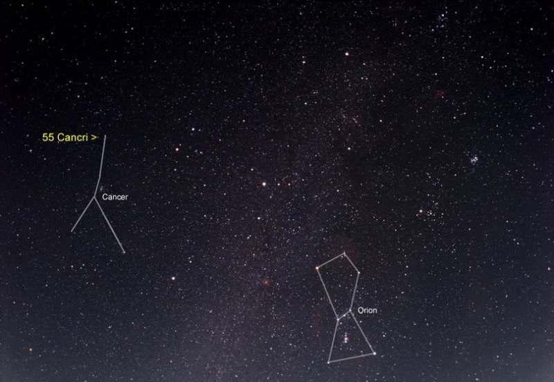 созвездии Рака (HD 75732).