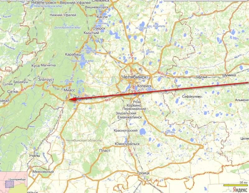 Примерная траектория полета