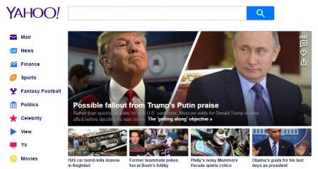 Странные послания Трампу и Путину на Yahoo.com?