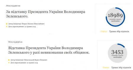 Три дня в кресле президента, а народ уже требует отставки Зеленского