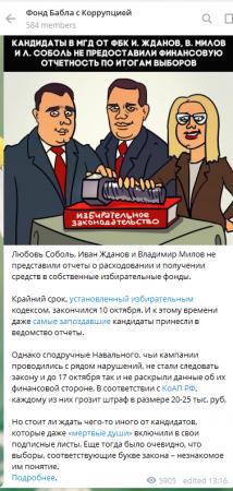 Соболь с Миловым нарушили закон, не представив финотчет по предвыборной кампании