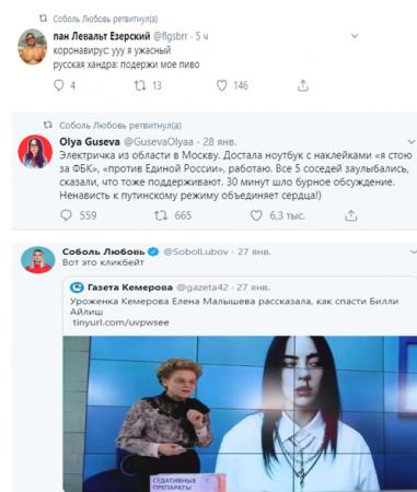 Соболь и ее роли в социальных сетях, или Дорога на «дно»