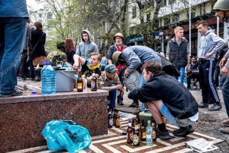Одесса 2 мая 2014 года – фашисты в Доме профсоюзов сожгли Украину
