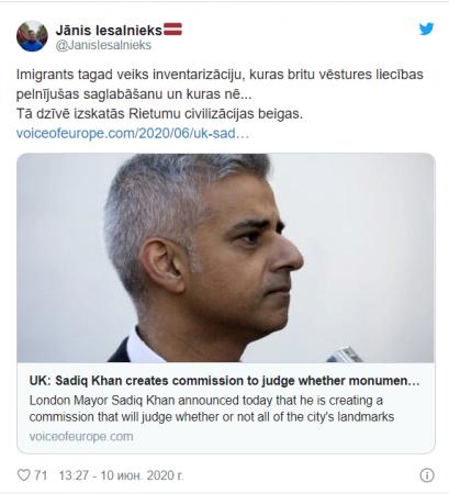 Латвийский депутат назвал мэра Лондона иммигрантом, предсказав падение «западной цивилизации» - смешнее не придумать