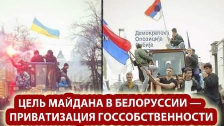 Британский журналист назвал цель майдана в Белоруссии — приватизация госсобственности