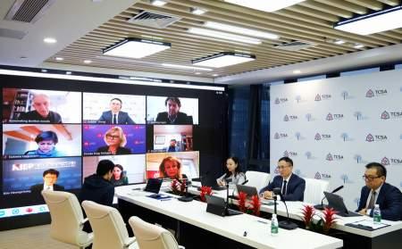 С речью на форуме «Диалог континентов» выступил Адкинс Чжэн из TCSA